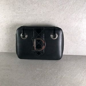 Dior Beauty Small Black Mirrored Makeup Case